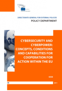 Cover website Cybersecurity and Cyber power