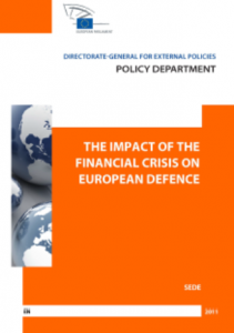 Cover website the impact of the financial crisis on the European defence