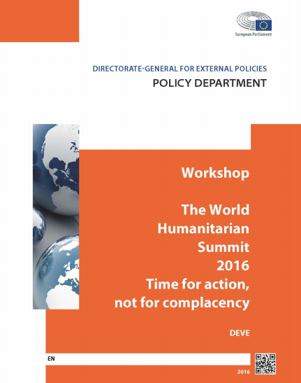 Workshop Worl Humanitarian Summit